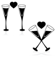Drinks and love vector image