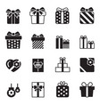 gift box icons set on white background vector image