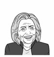 hillary clinton art black and white vector image