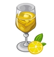 Lemon cocktail or smoothie in glass drinks vector image