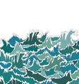 Ocean Storm Green Waves vector image