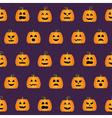 Seamless Halloween Pumpkin Faces pattern vector image