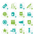 stylized simple cinema and movie icons vector image