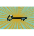 Vintage door key vector image