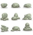 Design rock stone set element of vector image