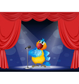 A parrot in the limelight vector image vector image