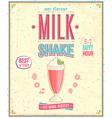 Milk Shake Poster vector image