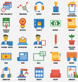 Set of business and development icons vector image