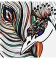 Decorative ornamental peacock vector image