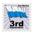 post stamp of national day of San Marino vector image