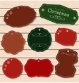 Set of Vintage Christmas and New Year elements vector image vector image