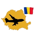 fly me to the Romania vector image