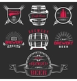 Vintage Craft Beer Brewery Logo and Badge vector image
