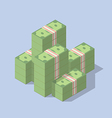 Pile of cash isometric vector image vector image