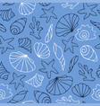 black and white outline on blue background vector image