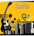 city guitar vector image
