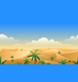 Desert panorama horizontal seamless pattern vector image