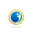 eco people abstract organic logo vector image