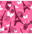 Fashion seamless background on pink vector image