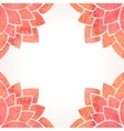 Frame with watercolor red flower pattern vector image