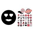 Lady Love Flat Icon with Bonus vector image