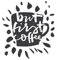 Poster Coffee Calligraphy ink vector image