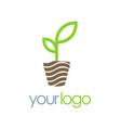 seed plant organic logo vector image