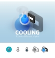Cooling icon in different style vector image