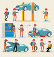 car service elements set vector image vector image