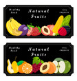 the sweet fruits vector image