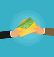 bribe flat vector image