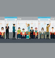 inside the subway train vector image