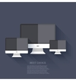 modern flat technology background Eps 10 vector image