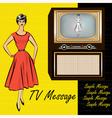1950s Stlye Retro vector image