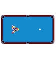 Pool table vector image