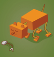 robotic cat two vector image