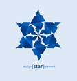 Origami Snowflake from paper on white background vector image