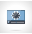 Action movie flat color icon vector image