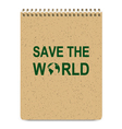 Realistic Recycle Brown Cover Notepad vector image