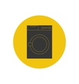 Washing machine silhouette vector image