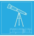 Telescope simple sign White section of icon on vector image
