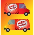 Holiday bus isolated vector image