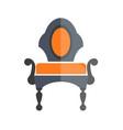 luxury antique armchair in dark and orange colors vector image