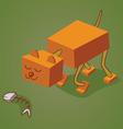 robotic cat two vector image