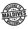 Welcome to maldives black stamp vector image