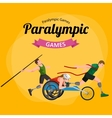 Disable Handicap Sport Games Stick Figure vector image