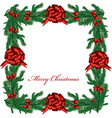 Christmas Floral Border vector image vector image