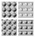 3d geometric pattern set vector image