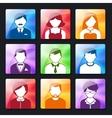 Social Avatar Icons Set vector image vector image