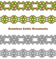 Seamless celtic borders vector image